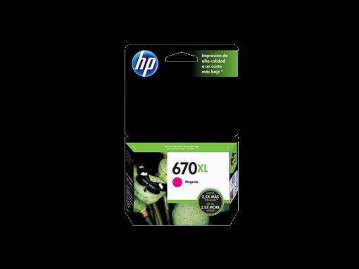 Cartucho de Tinta HP 670XL Magenta