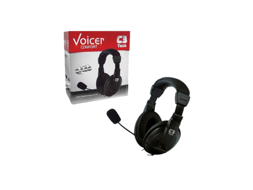 Headset com Mic Voicer Confort Preto – C3 Tech‏